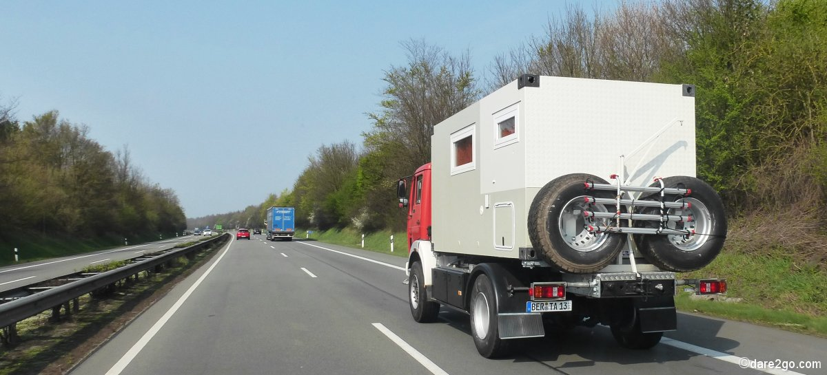Berta on the highway in Germany