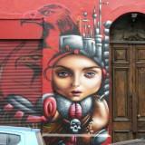 Santiago-Bellavista streetart: fantasy figure