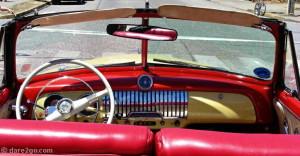 dash of an historic Chevrolet convertible