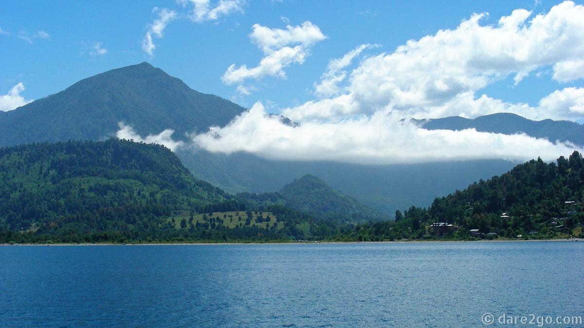 View across Lago Ranco from Llifen