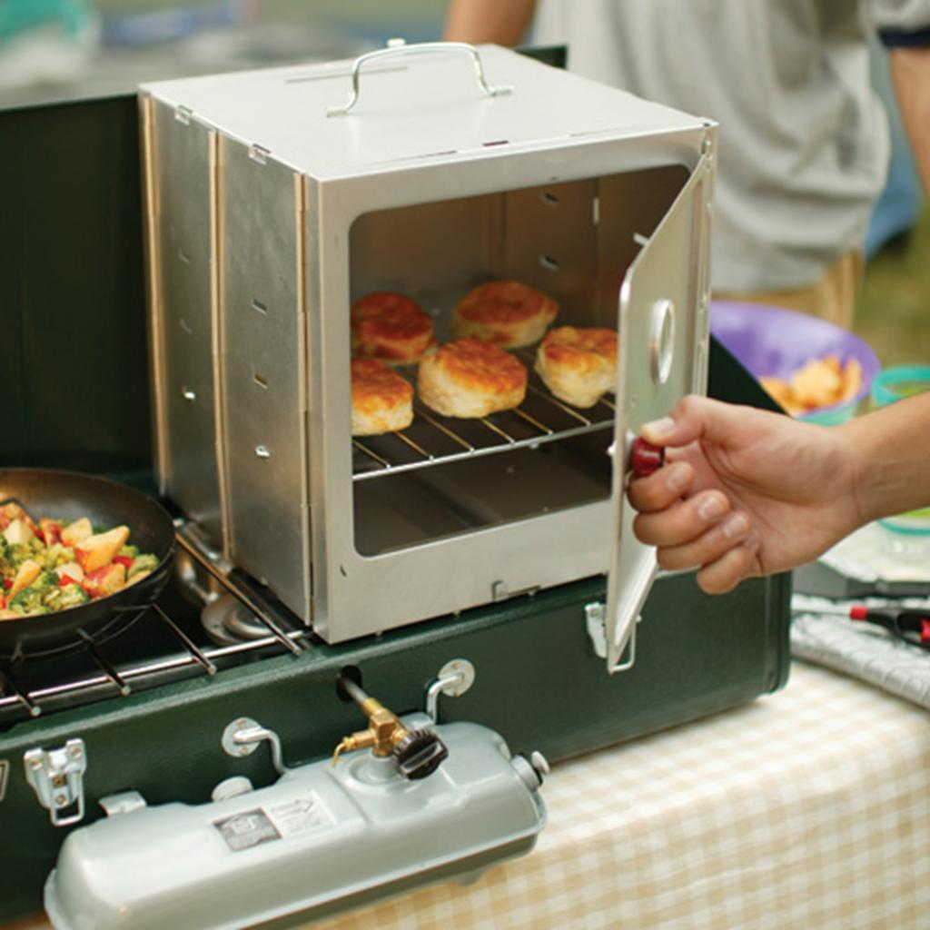 The Coleman stove-top oven