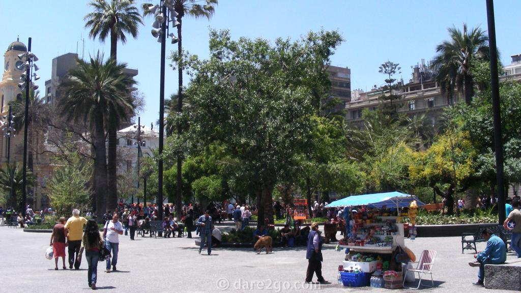 Santiago de Chile: redesigned Plaza de Armas (2015)