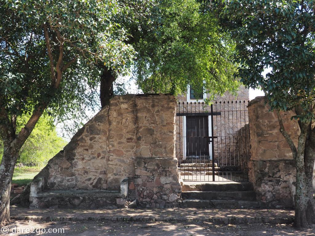 Estancia Caroya: outside the very simple chapel.