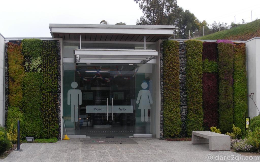 Vertical garden at Copec station