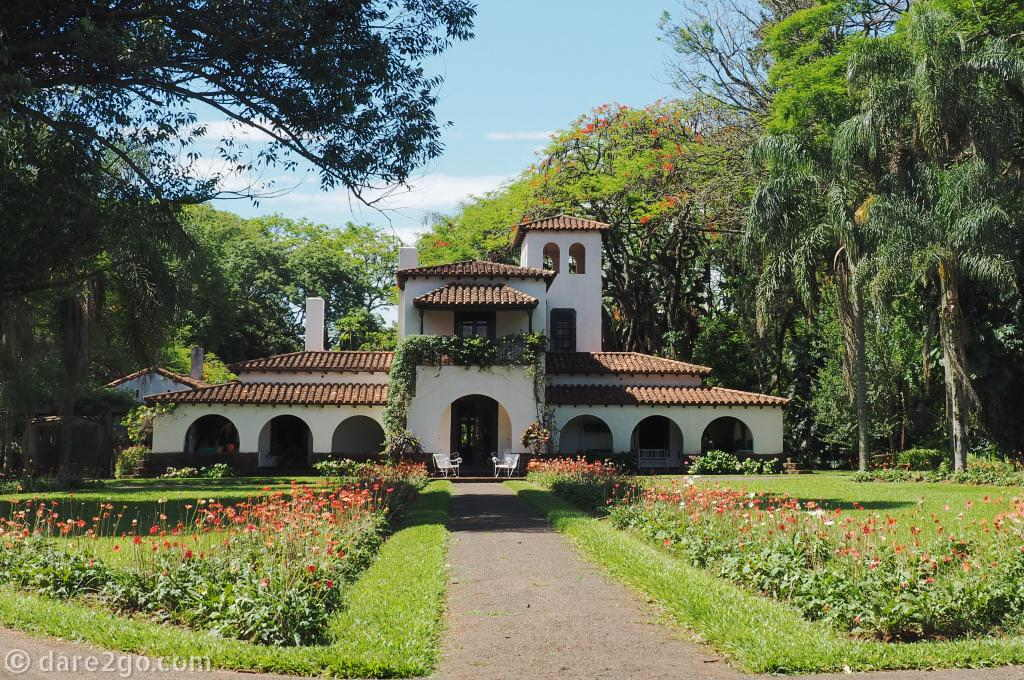 La Mayoria, the beautiful owners' residence at 'Las Marias' Mate plantation