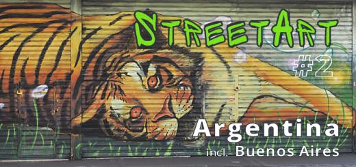 Street Art Calle Libertad: this tiger stretches across a wide shop front