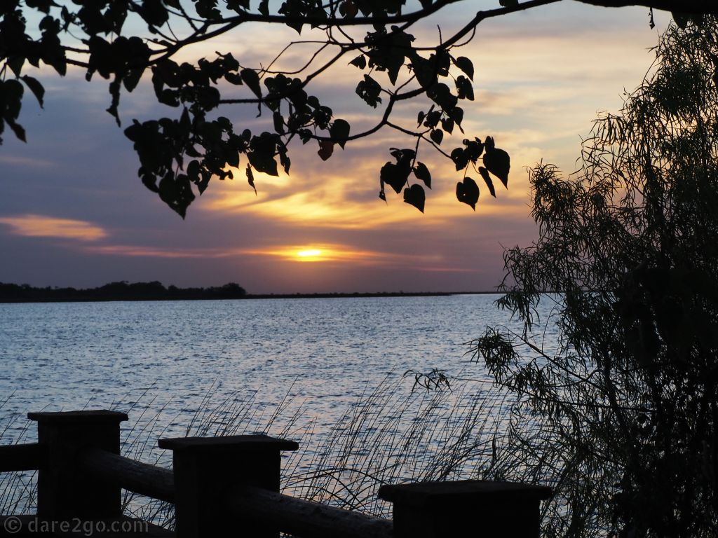 A beautiful sunset over Argentina's Pantanal from the Municipal Campground. Esteros del Ibera is worth a few days with its abundant wildlife and peaceful water views.