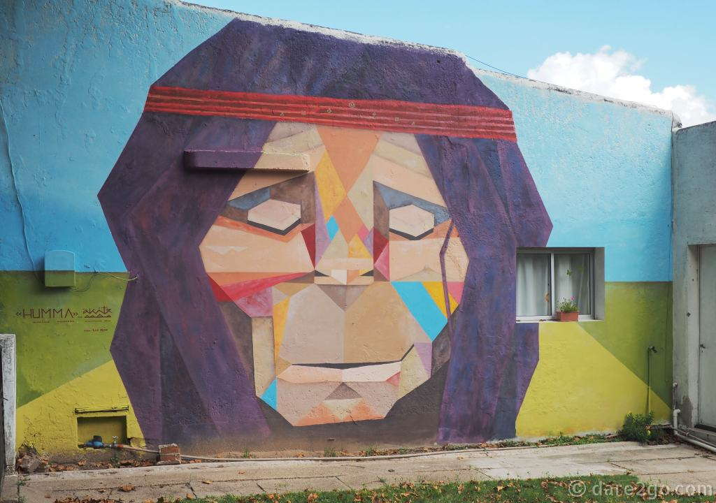 San Gregorio street art: 'humano mamifero', the human mammal.