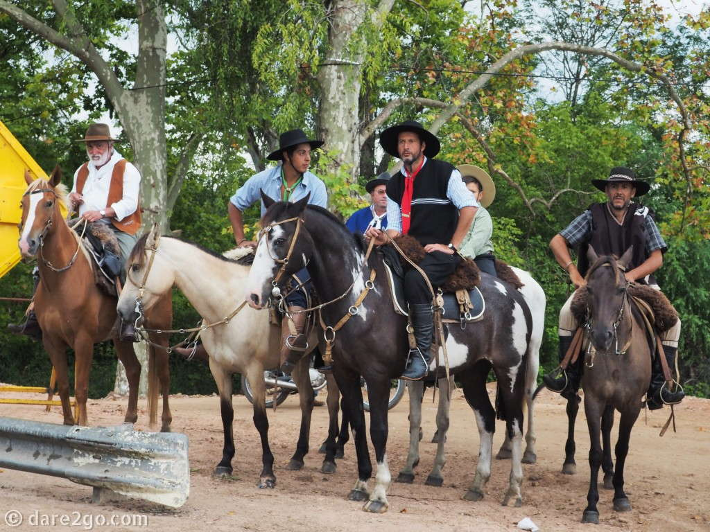 Gauchos on horses, and then more gauchos on horses: this is what the annual celebration of gaucho culture in Tacuarembo is all about.