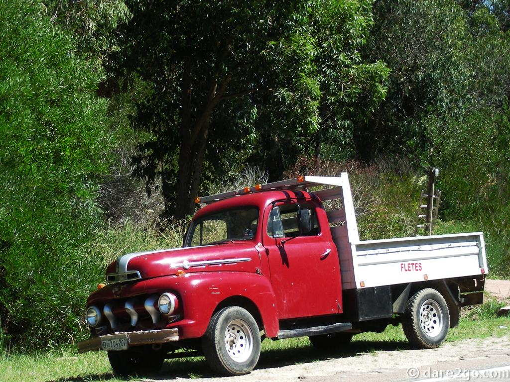 This old FORD truck still earns its keep for a small freight (fletes) business