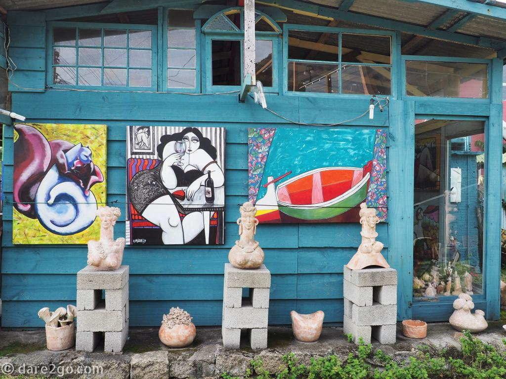 Floripa: the 'Jardim de Escultura' of the artist 'Maia' at Retiro, Lagoa da Conceição
