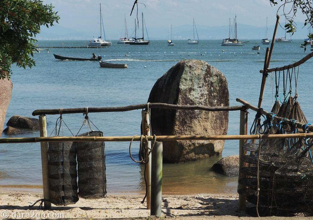 One of the many oyster farms on Ilha de Santa Catarina