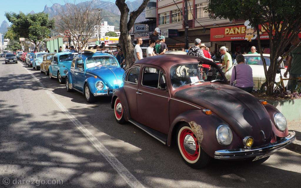 Some people say it's difficult to find old Volkswagen Beetles to photograph - I counted 11 in this photo alone!