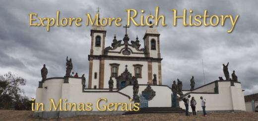 A World Heritage Site 60 kilometres from Ouro Preto: the Sanctuary of Bom Jesus de Matosinhos in Congonhas.