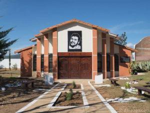 The memorial chapel in the Centro Cultural Ernesto Che Guevara in Vallegrande on the Ruta del Che