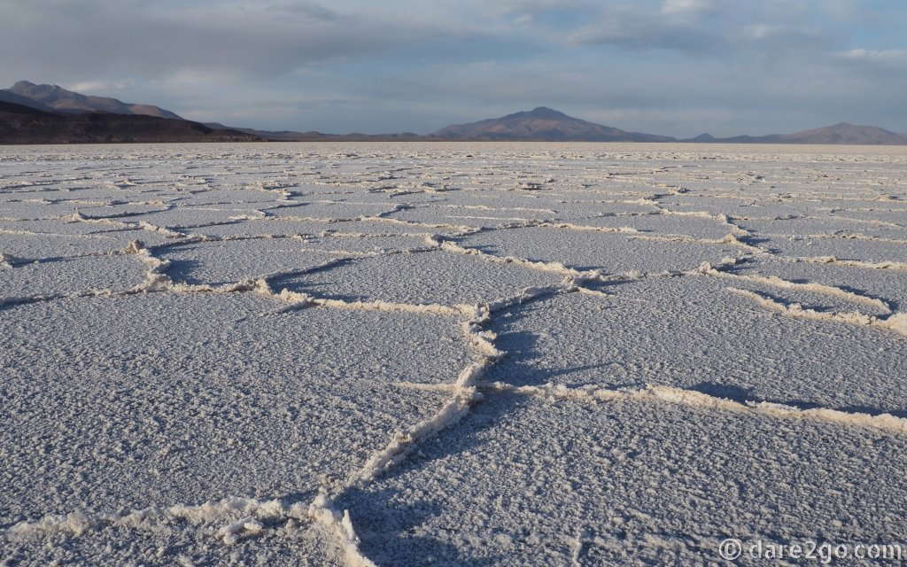 The Salar de Uyuni, with the peaks of the Andes in the distance – one of Bolivia's most popular destinations