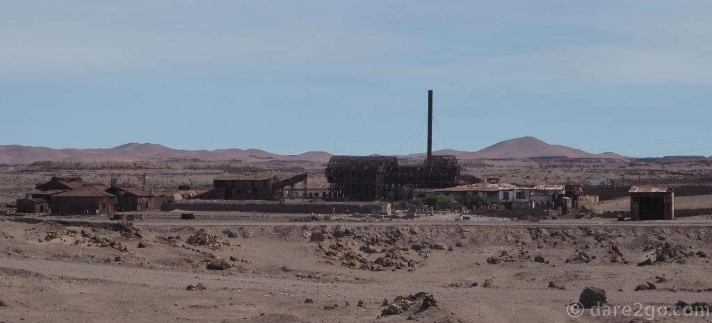 The World Heritage listed saltpeter works of Santa Laura in Chile's Atacama Desert