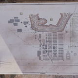 World Heritage in Chile: an old map of the entire complex of the saltpeter works at Humberstone