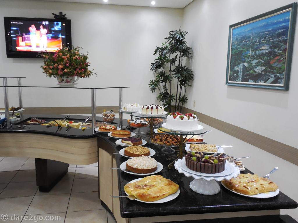 Part of the cake buffet at the 'Tortenhaus' in Pomerode: you can try as many cakes as you like (and can pay later).