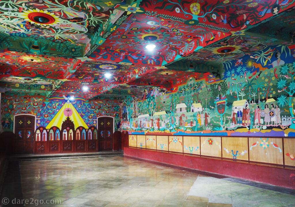 Convento de Santa Rosa de Ocopa: Comedor Franciscano with its colourful murals by Josúe Sánchez