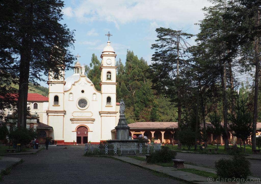 The church of the Convento de Santa Rosa de Ocopa near Huancayo.