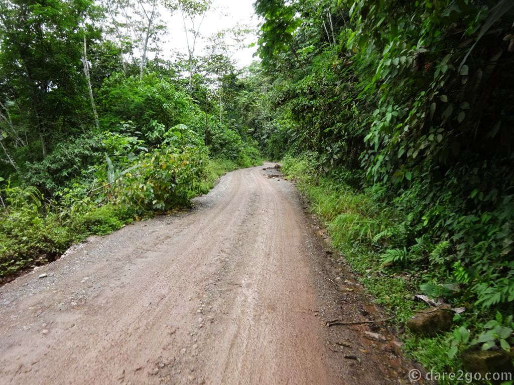 Most of the roads in La Selva of Peru are sealed - although in various stages of disrepair due to fresh landslide damage. Only 80 kilometers are without pavement, and in recent rains this section had suffered badly (we tried to photograph during the bumpy bits, but they were always too bumpy).