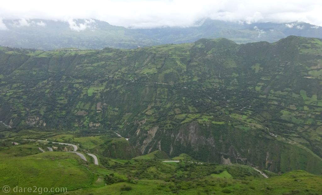 Driving from Cajamarca to Kuntur Wasi gave us some amazing mountain views like this one - and another windy road.