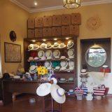 A smaller boutique style exclusive Panama hat store in Cuenca, Ecuador.