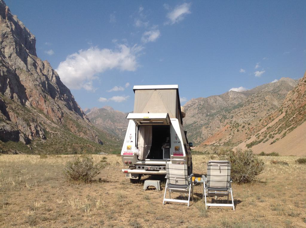 Wild camp Wakhan Valley Tajikistan