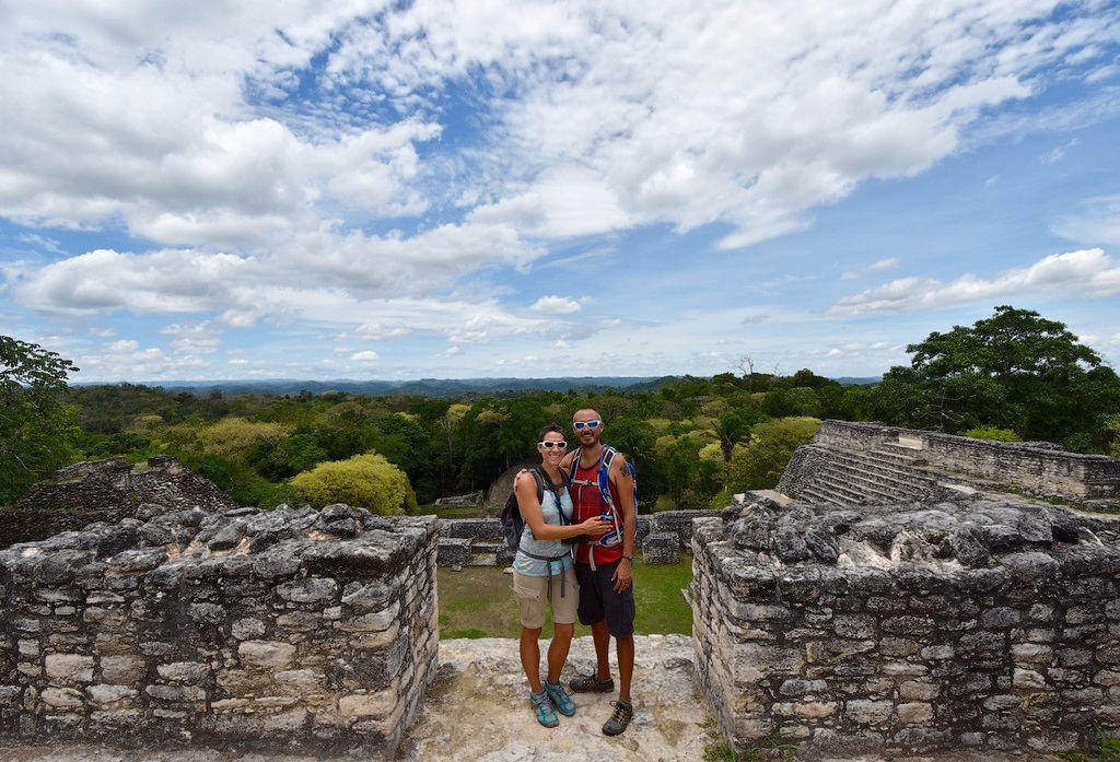 Standing atop a Mayan pyramid at Caracol, Belize June 2016
