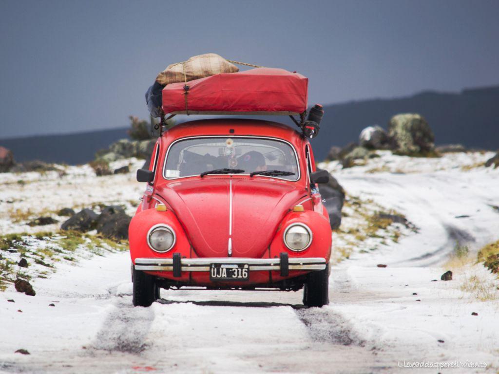 Summer snow at Cotopaxi National Park.
