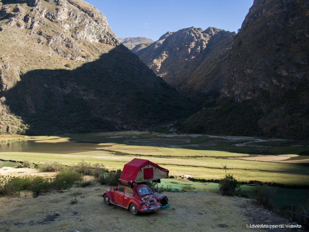 Home is where you park it. Laguna Piquecocha. Yauyos National Park.