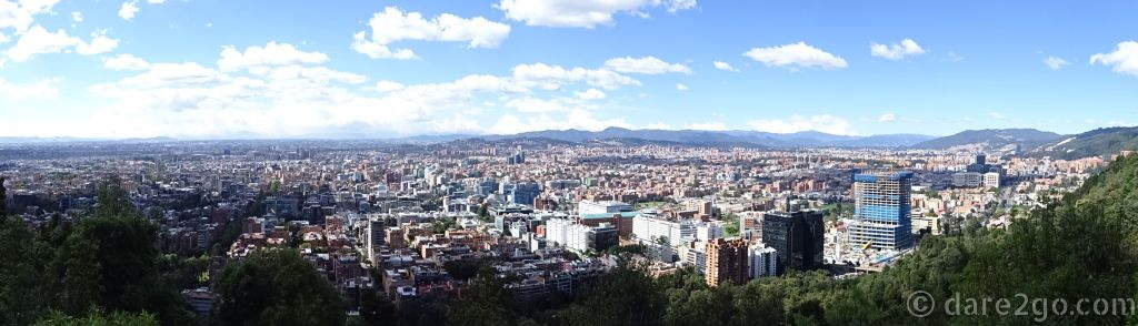 Bogotá DC: a panorama of this huge city, taken as we were leaving.