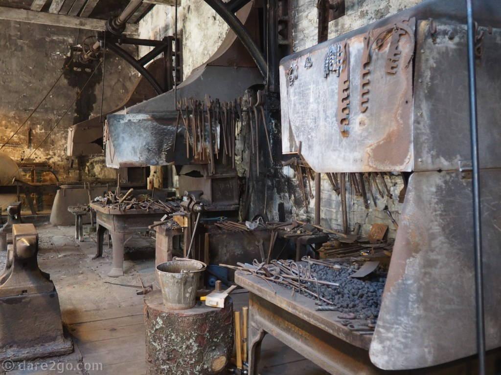 National Slate Museum Wales: the Dinorwic slate quarry had its own large blacksmith workshop.