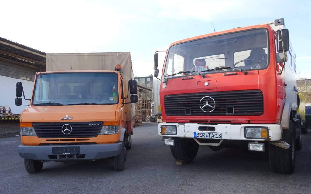 Side by side: Bertita and Berta. Look at the difference in tyres alone.