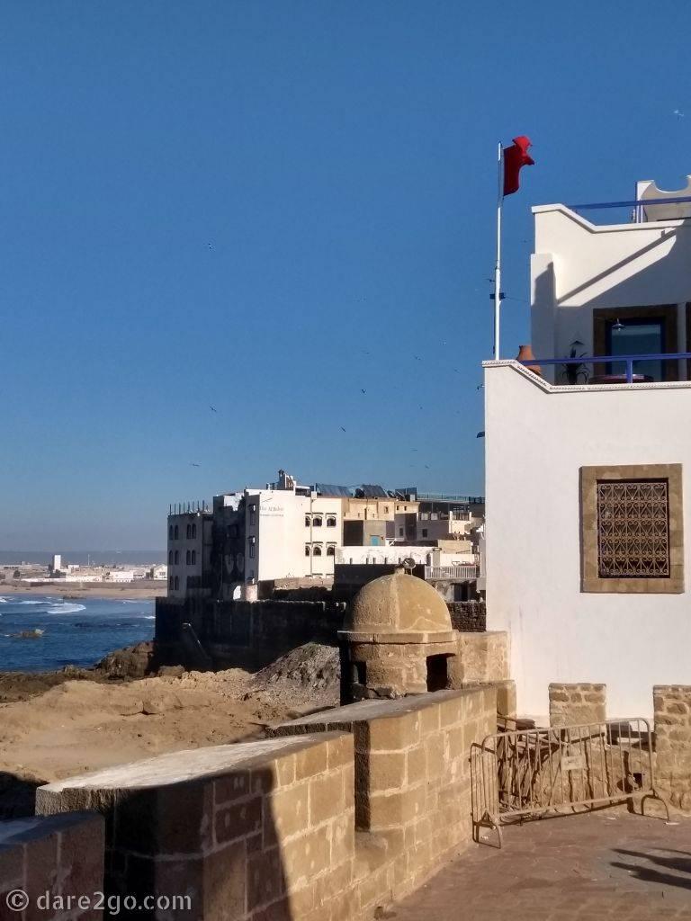 city walls overlooking the ocean