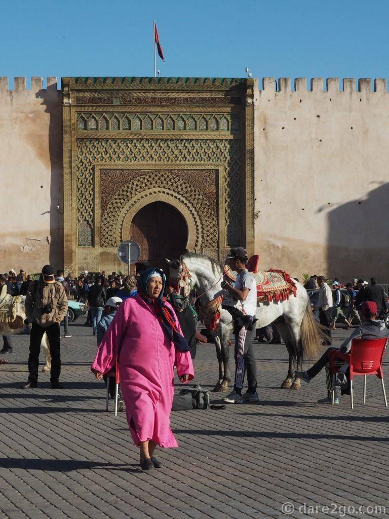 Bab Jema en Nouar - another decorative entrance to the Medina.